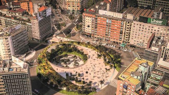Uno dei progetti per piazzale Loreto