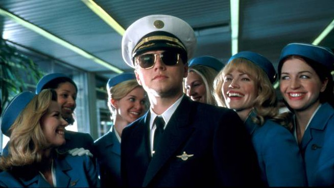 il film 'Prova a prendermi' con Leonardo DiCaprio (foto Afp)