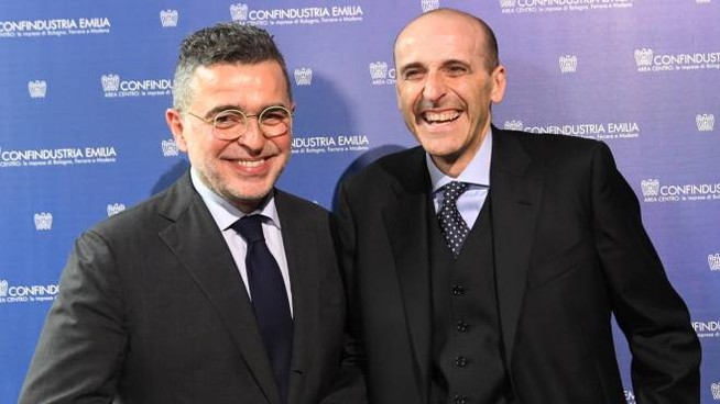 Confindustria, Alberto Vacchi con Valter Caiumi (FotoSchicchi)