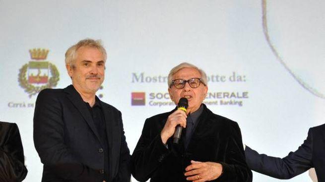 Alfonso Cuaron e Paolo Taviani a Lucca (foto Alcide)