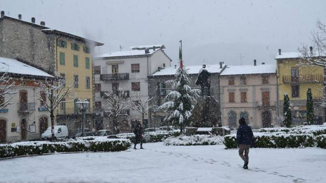 Modena, neve in Appennino la Domenica delle Palme