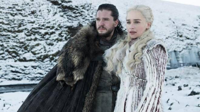 Una scena di 'Game of Thrones', Il Trono di spade (Ansa)