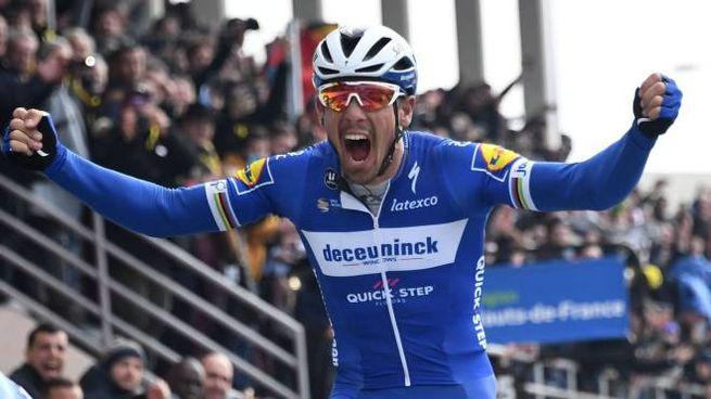 Parigi-Roubaix 2019, Philippe Gilbert all'arrivo (LaPresse)