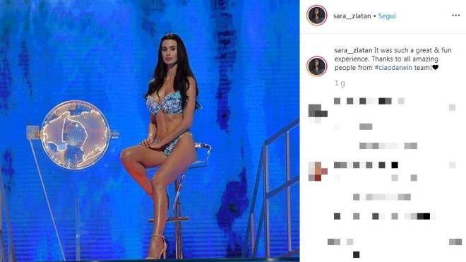 Sara Vulinovic Zlatan, Madre Natura a Ciao Darwin (Instagram)