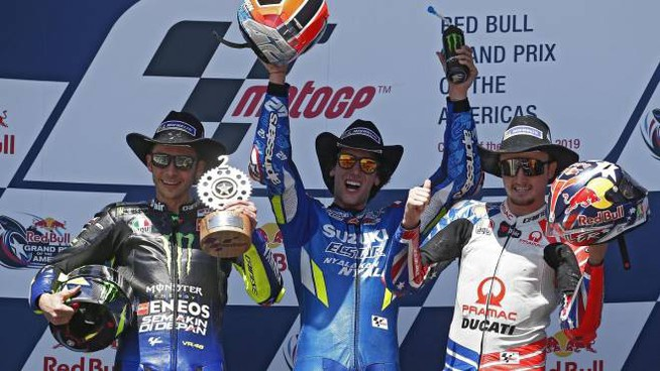 MotoGp: Rossi, Rins e Miller sul podio ad Austin (Ansa)