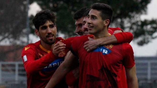 Simone Raffini, suo il gol che ha regalato al Ravenna la vittoria corsara a Verona