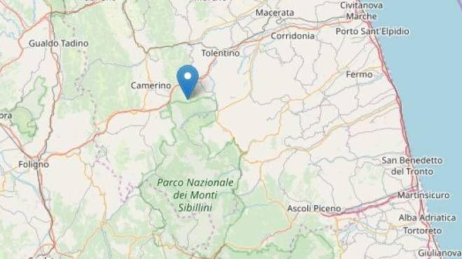 Scossa di terremoto vicino a Camerino, epicentro nei pressi di Caldarola e Cessapalombo