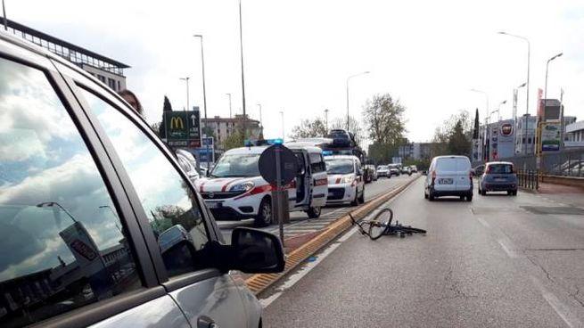 Il luogo dell'incidente (foto Germogli)
