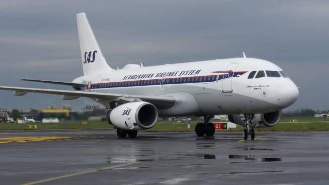 L'aereo della Scandinavian