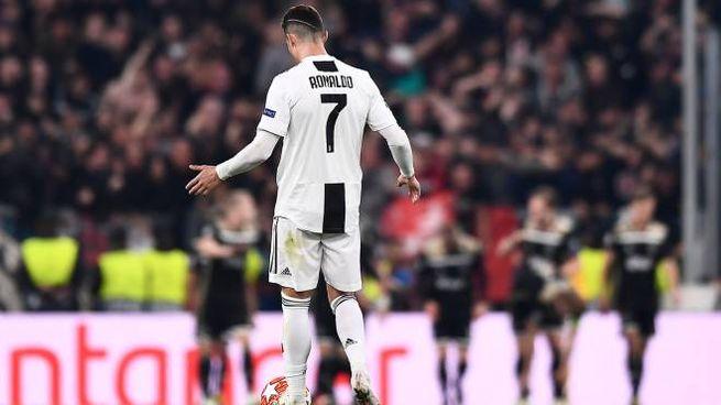 Cristiano Ronaldo durante Juve-Ajax (Lapresse)