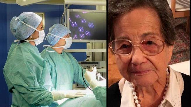 Ida Cucco, 102 anni, ha bisogno di un'ecografia al fegato