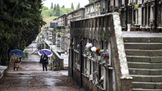 Il cimitero del Verano a Roma (Ansa)