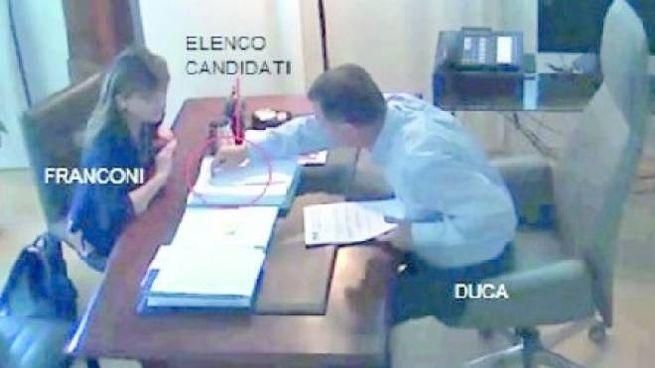 Una delle immagini riprese dalle telecamere spia