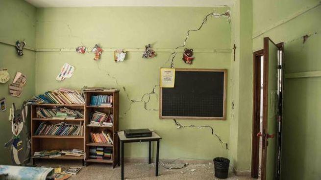 La scuola terremotata di Muccia, nelle Marche