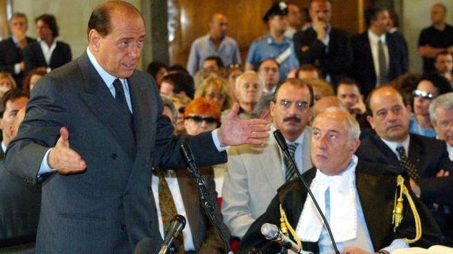 Berlusconi in tribunale per le dichiarazioni spontanee sul caso Sme. Era il 2003 (Ansa)