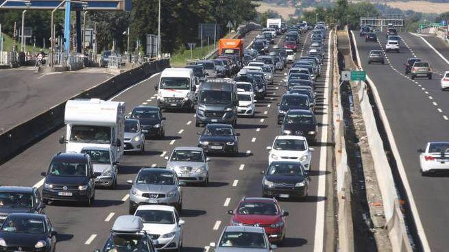 Traffico intenso sull'autostrada