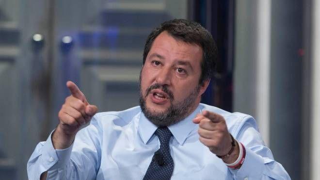 Il vicepremier Matteo Salvini a Porta a Porta (ImagoE)