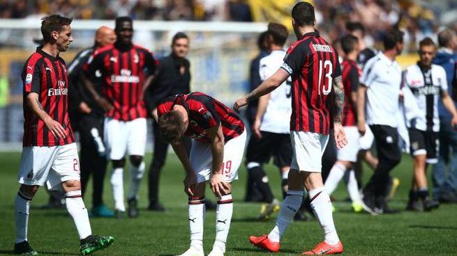 Il Milan dopo la partita contro il Parma