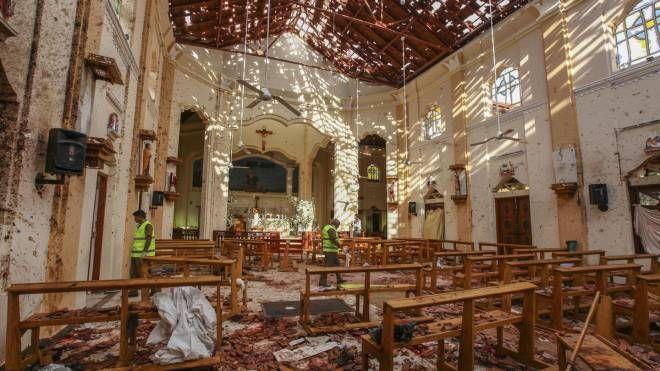 Sri Lanka, una delle chiese devastate dagli attentati