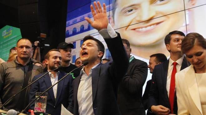 Il comico televisivo Volodymyr Zelensky alla presidenza dell'Ucraina (Ansa)
