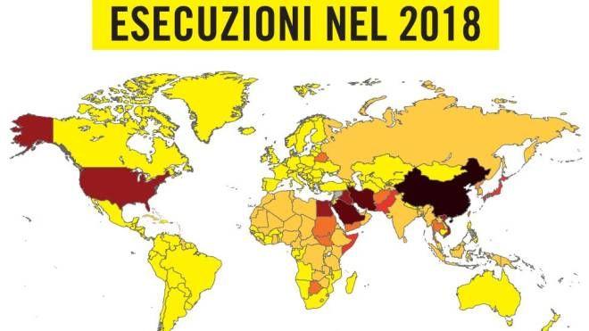 Esecuzioni capitali, la mappa di Amnesty International (Dire)