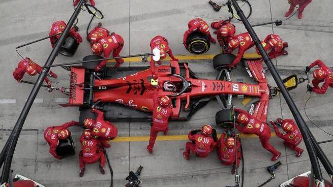 Ferrari a Shanghai, pit stop di Leclerc (Ansa)