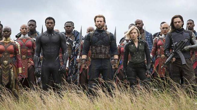Una scena del film Avengers, Infinity War (Marvel Studios)