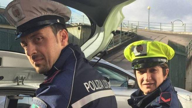 E' intervenuta anche la polizia municipale (foto di repertorio)