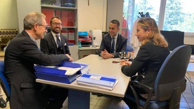 L'incontro tra i ministri Bonafede e Grillo, il vicepremier Di Maio e il commissario Onnis