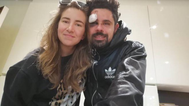 Rossella Setti con il fidanzato