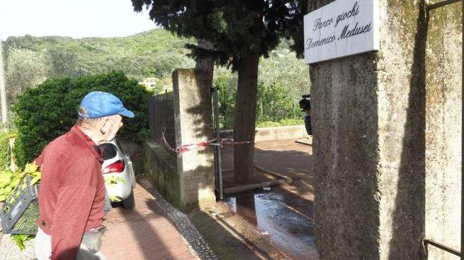 Il parco dove è avvenuta la tragedia (foto Frascatore)