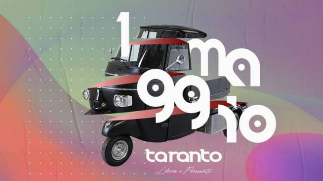 Primo maggio, il logo dell'iniziativa di Taranto (Facebook)
