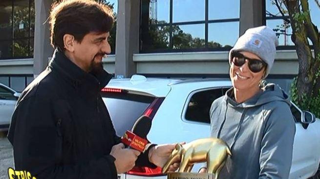 La consegna del Tapiro d'oro a Federica Pellegrini
