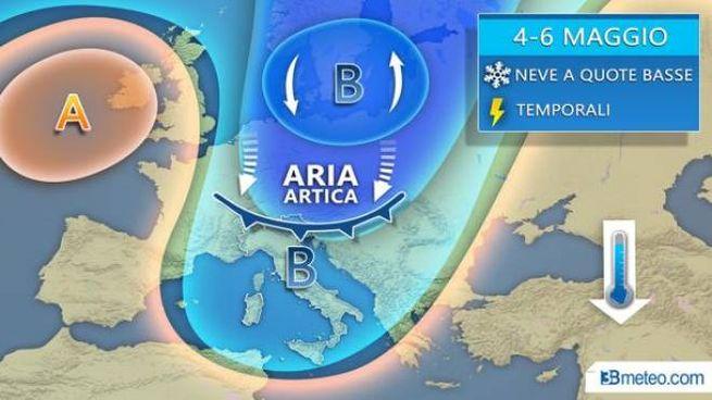 871d81670a Previsioni del tempo, irruzione artica. Neve e grandine: ecco dove ...