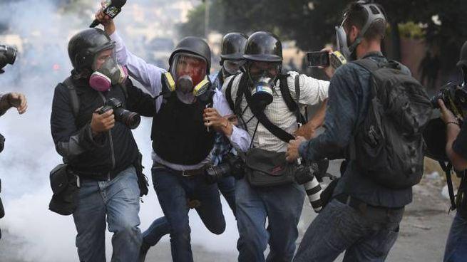 Scontri in Venezuela (LaPresse)