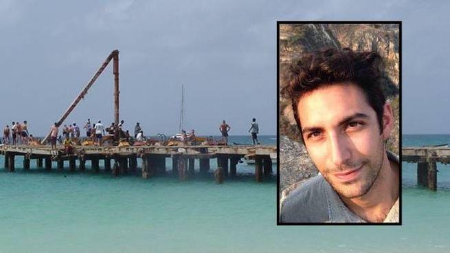 Uno scorcio di Capo Verde. Nel riquadro, David Solazzo