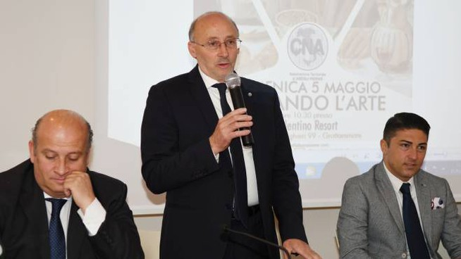 Da sinistra Gino Sabatini, Luigi Passaretti e Francesco Balloni