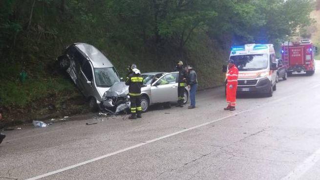 Incidente a Piane di Montegiorgio (foto Zeppilli)