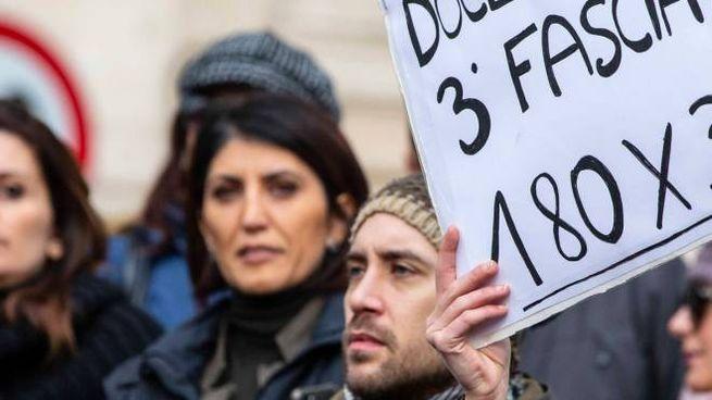 Una manifestazione contro il precariato