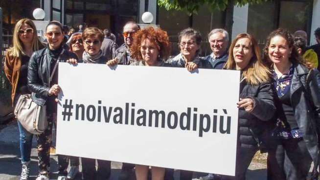 Un momento della manifestazione  (Foto Pasqualebove)