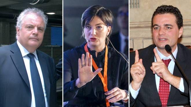 Da sinistra: Caianiello, Lara Comi e Altitonante
