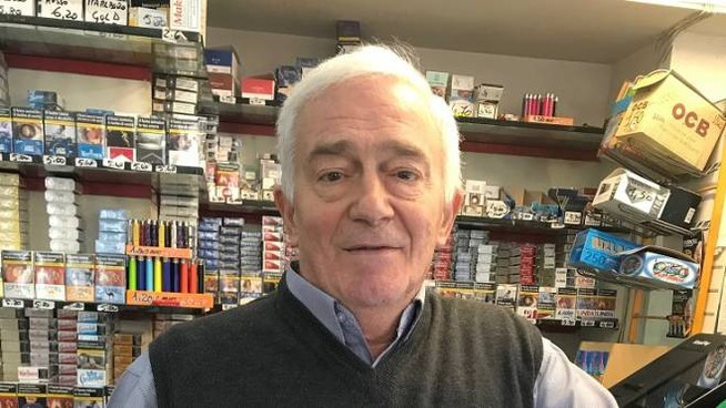 Bruno Rosi, titolare del bar