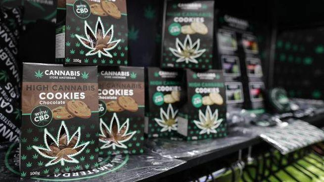 I prodotti in vendita nei cannabis shop (Ansa)