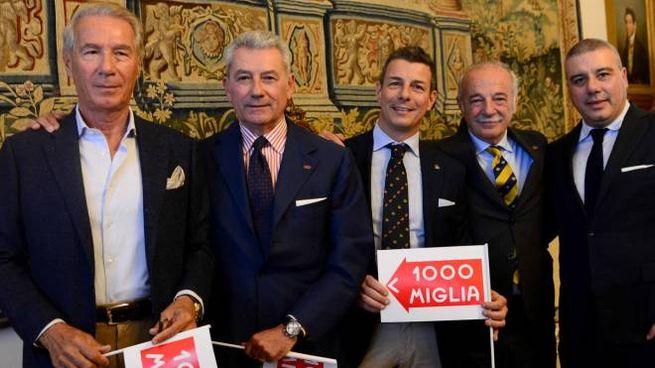 Da sin. Roberto Vancini, Maurizio Chiarini, Alex De Angelis,Giulio Felloni e Massimiliano Paglione