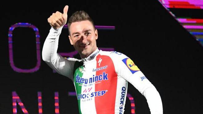 Giro d'Italia 2019, Viviani alla presentazione (FotoSchicchi)