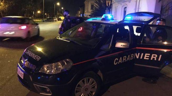 I carabinieri durante un posto di controllo