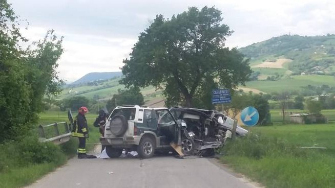 Incidente mortale tra San Severino e Tolentino (Foto Gentili)