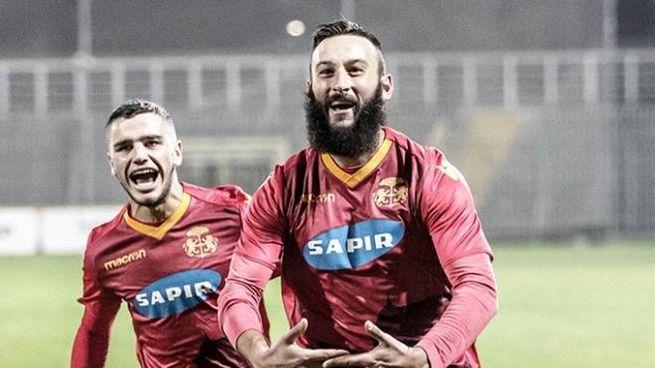 Manuel Nocciolini, suo il gol che ha regalato al Ravenna l'accesso al 2° turno