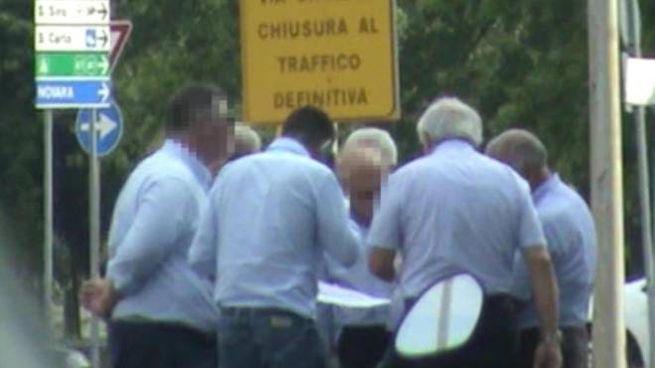 Un fermo immagine tratto da un video relativo all'inchiesta coordinata dalla Dda di Milano