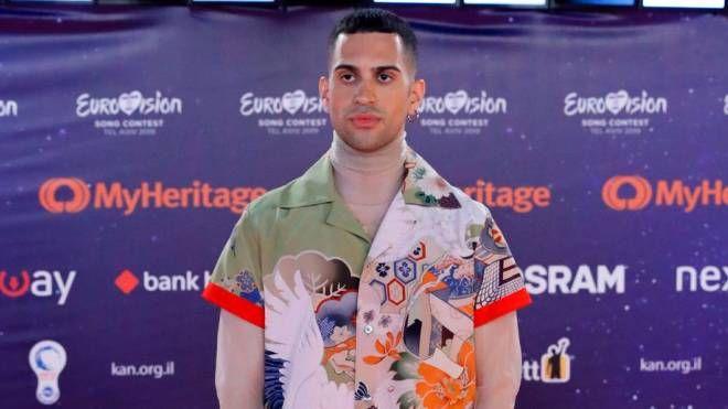 Mahmood sul red carpet dell'Eurovision Song Contest 2019 (Lapresse)